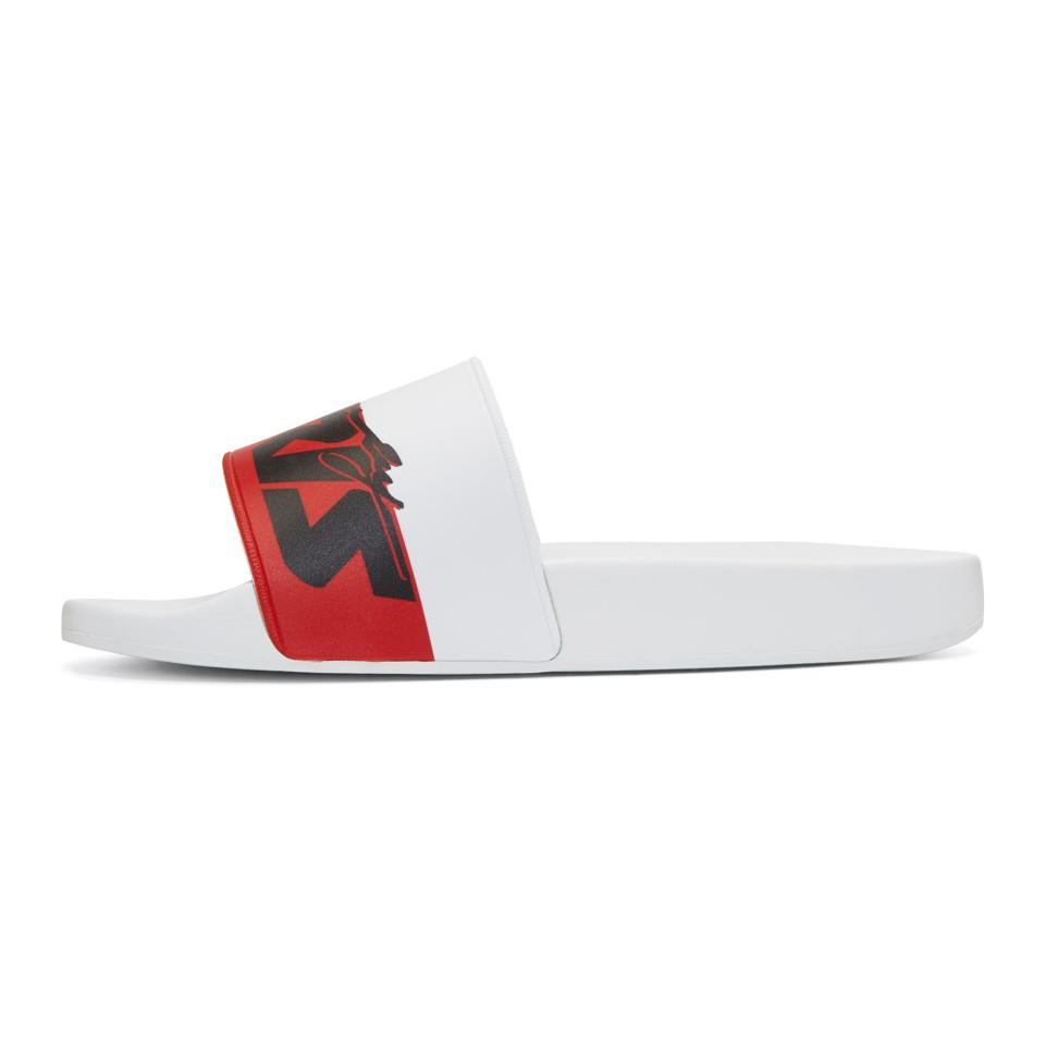 Excellent Cheap Get To Buy Givenchy Motorcross Print Slides Sale Footaction Cheap Footlocker wpyls9or7n