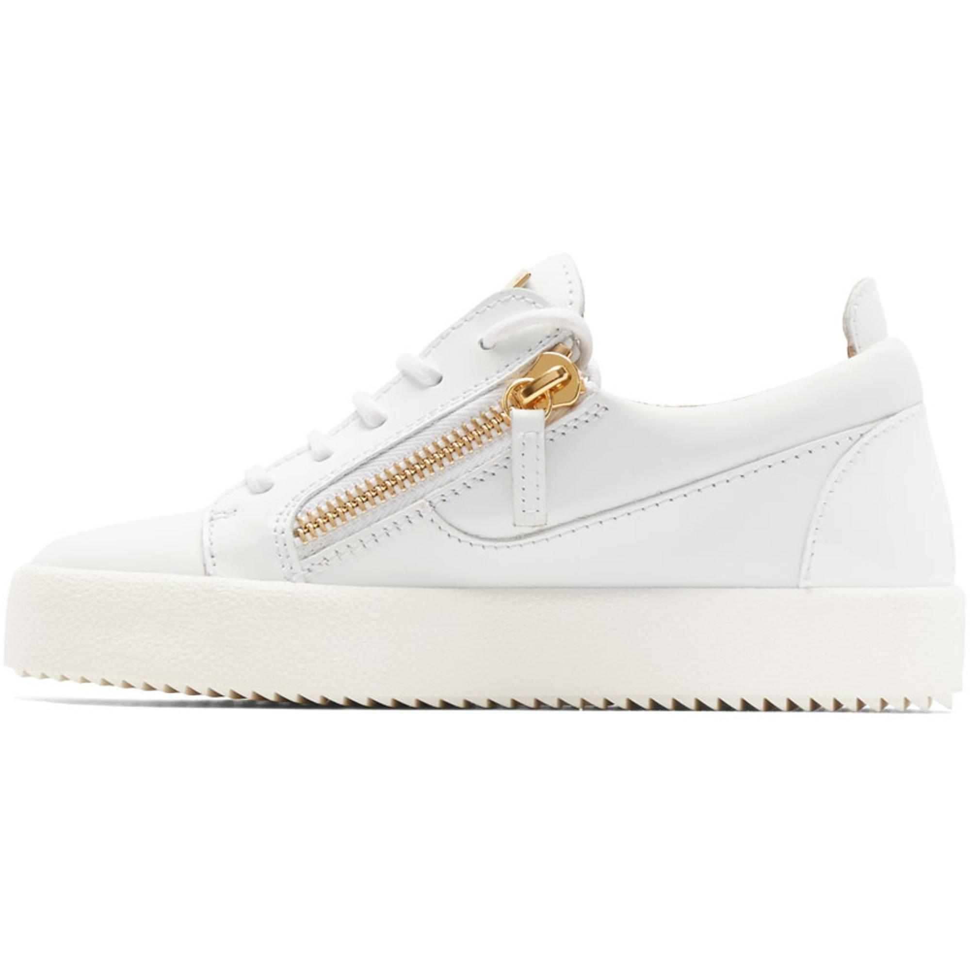 Giuseppe Zanotti White May London Velcro Sneakers eETUiH9AQ5