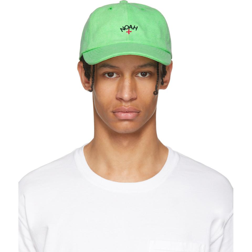 74cf48ab3d5 Noah Green Neon Six Panel Cap in Green for Men - Lyst