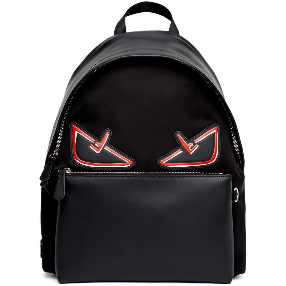 1f3fb672566 Lyst - Sac a dos noir et rouge Bag Bugs Fendi pour homme en coloris Noir