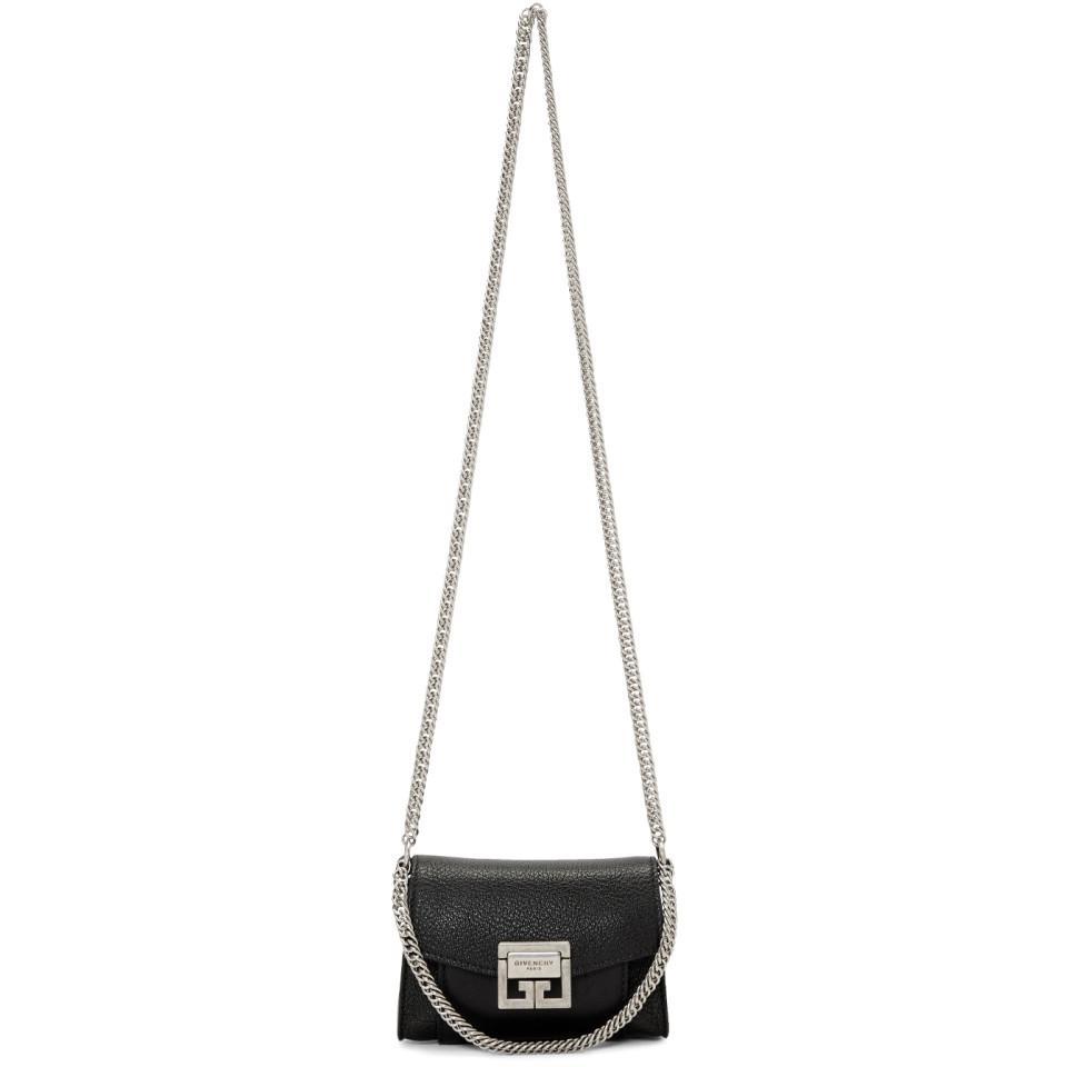 734e65209e2d Lyst - Givenchy Black Nano Gv3 Pouch Bag in Black