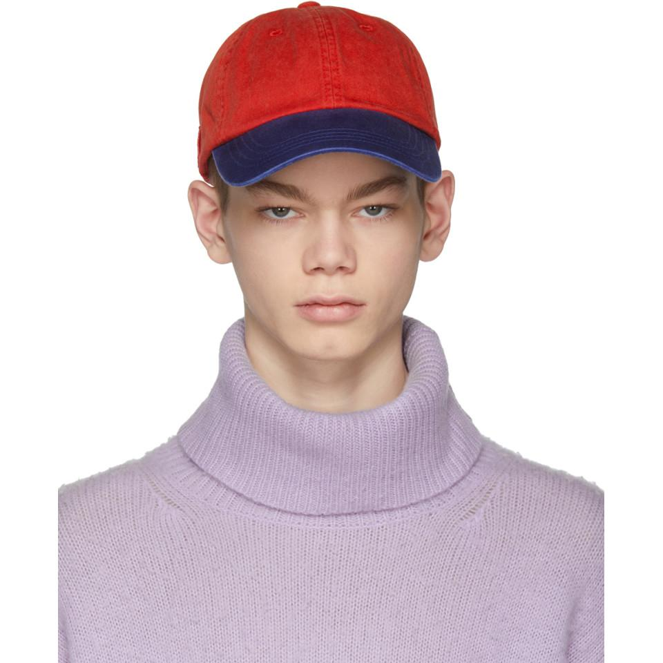 Red and Blue Carli Face Cap Acne Studios ZY84snqMYF