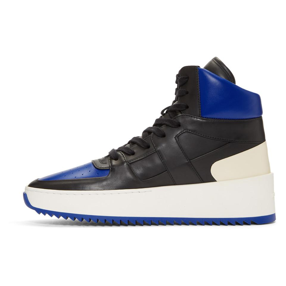 Fear of God Black & Blue B-Ball High-Top Sneakers P74Ib6