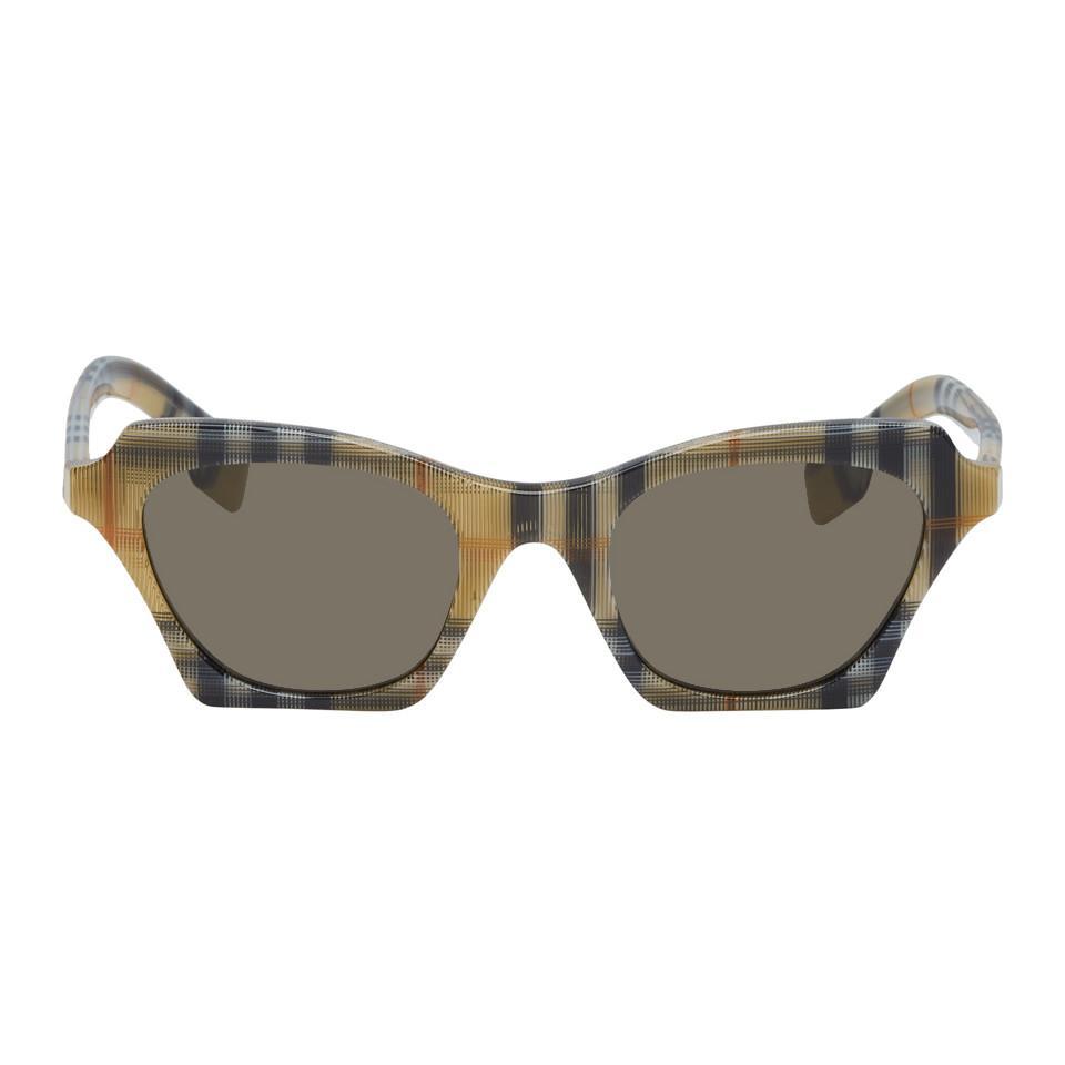 75bb0b22fb7 Burberry. Women s Multicolor Check Butterfly Sunglasses
