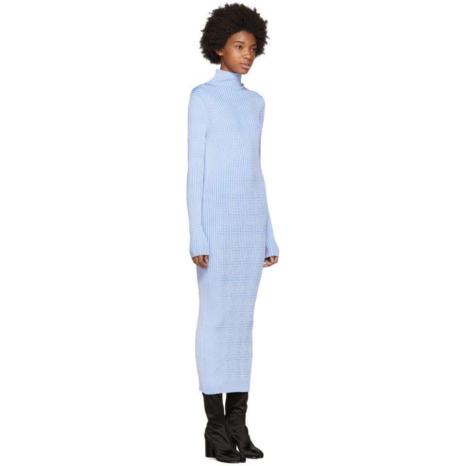 Blue Thin Rib Dress Maison Martin Margiela r9rAvTPTi