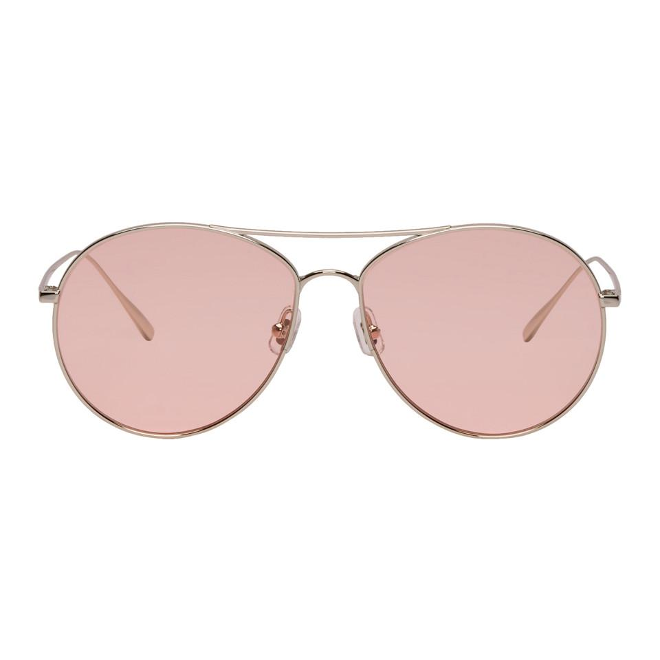 dd4f8187cda1 Gentle Monster Silver And Pink Ranny Ring Sunglasses for Men - Lyst
