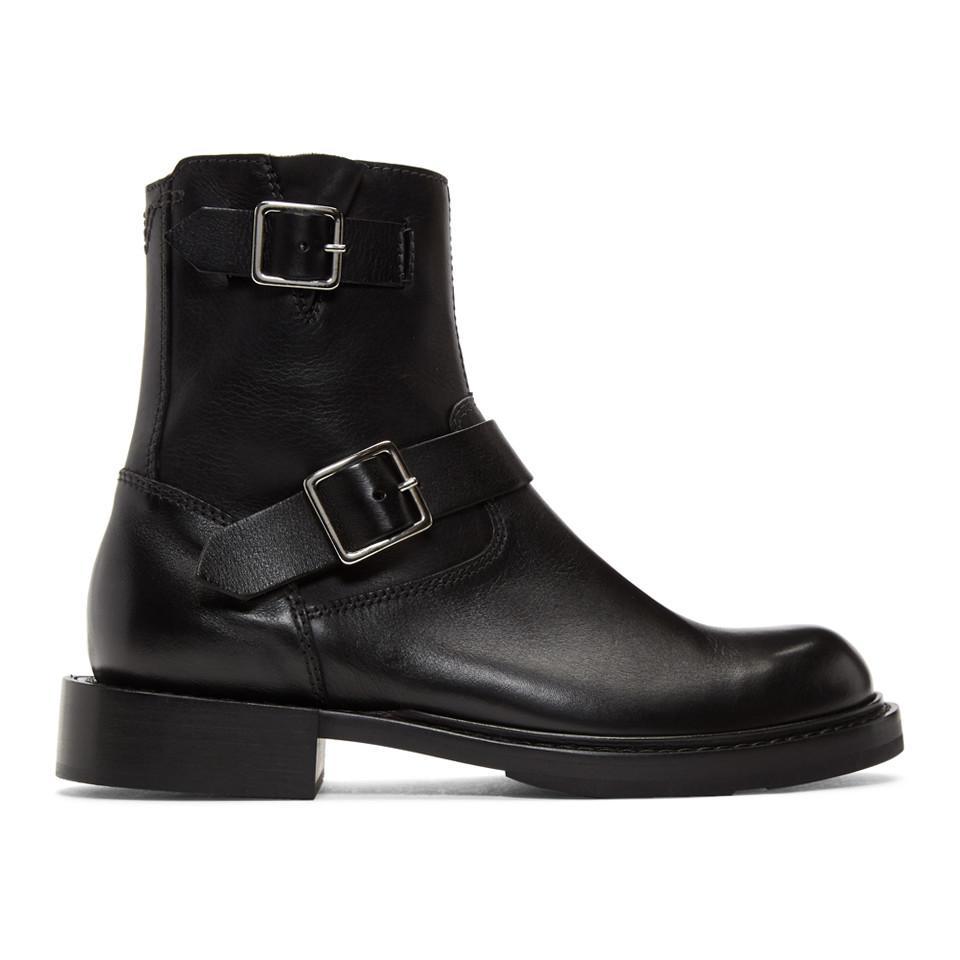 Saint Laurent Black D-Jack BB Zip Buckle Boots E39zcbSLzP