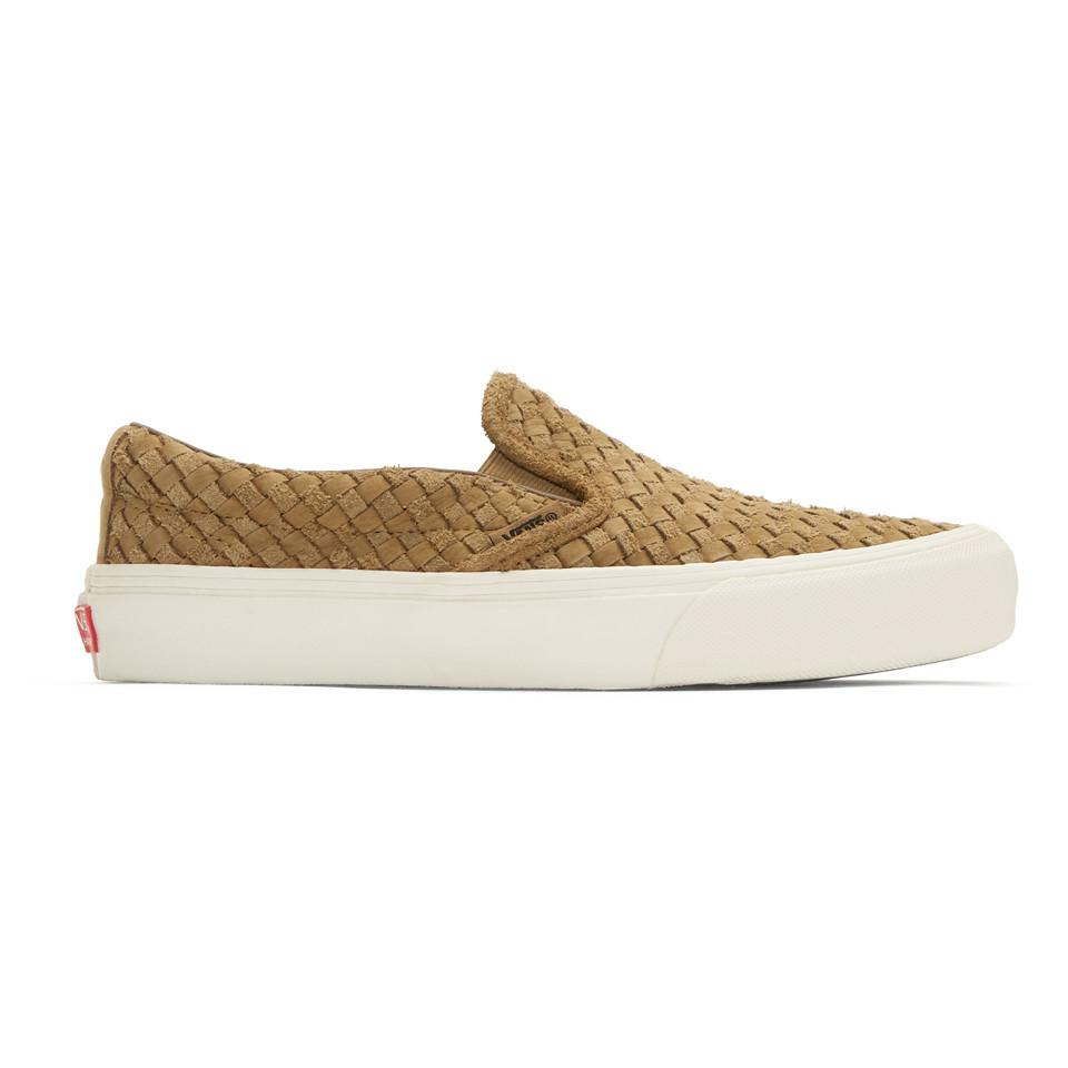 Vans Brown Taka Hayashi Edition Slip-On 66 LX Sneakers VYblWxAJ1