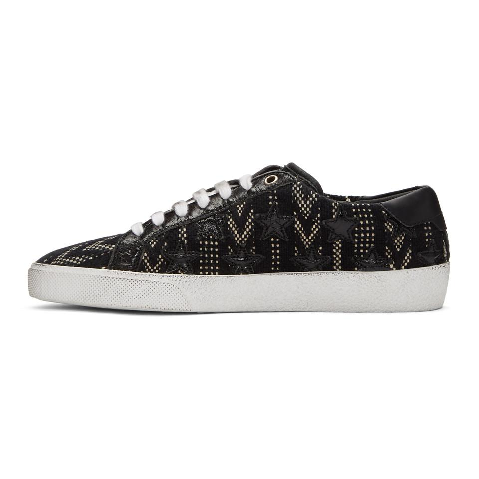 Black and White Tweed SL/06 Court Classic Sneakers Saint Laurent V8wHqxMk