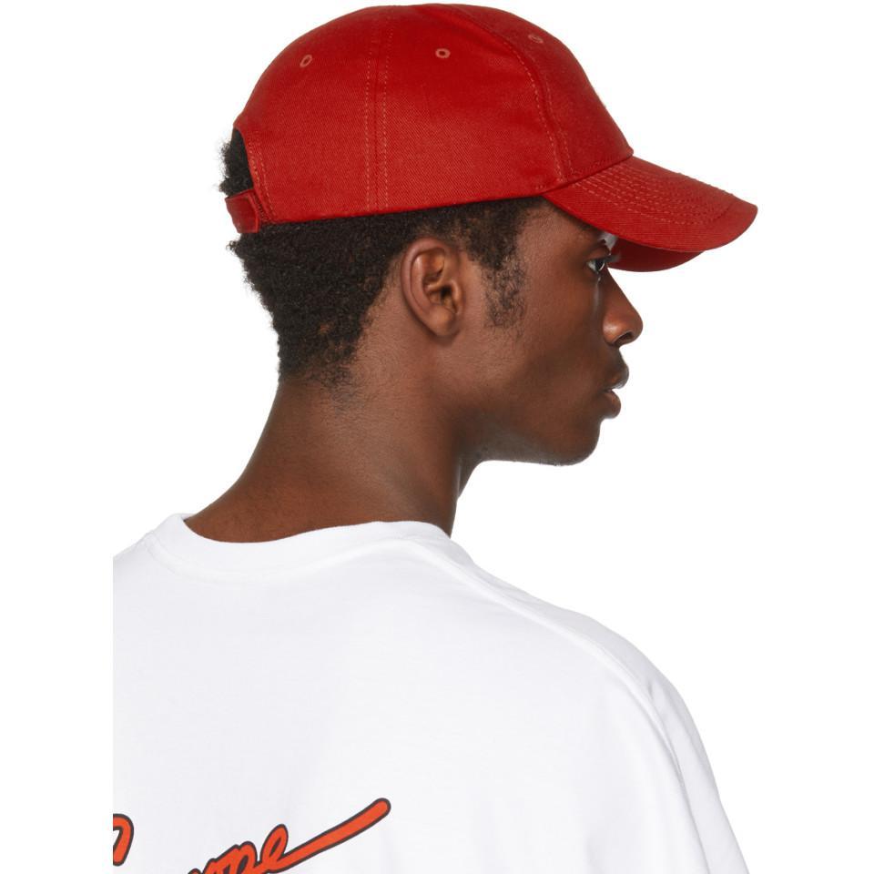 Rouge À Plusieurs Logo Cap Balenciaga Kmujt8