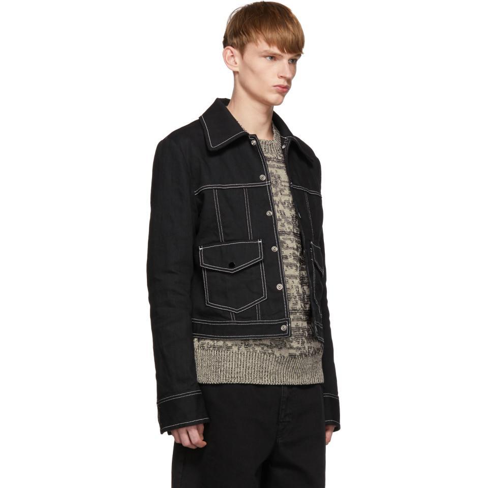 70de271c940b Maison Margiela - Black Denim Raw Resin Jacket for Men - Lyst. View  fullscreen