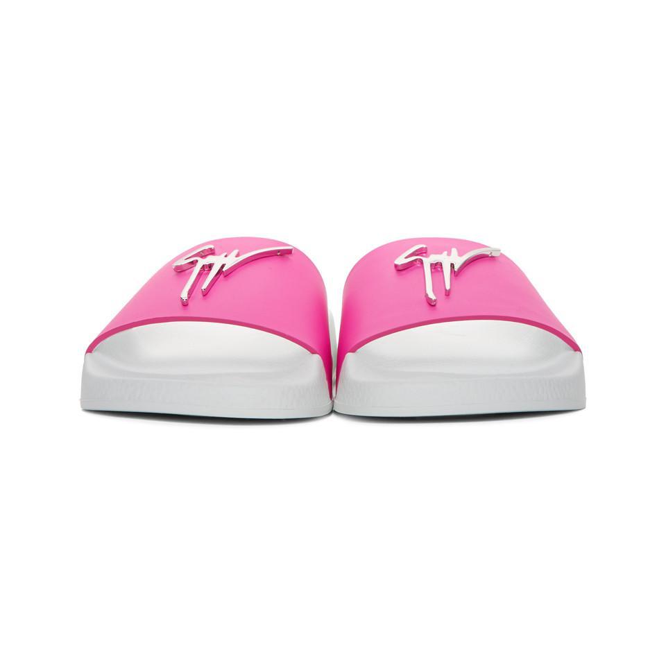 Giuseppe Zanotti Pink Laburela Slides YUIhXRVi