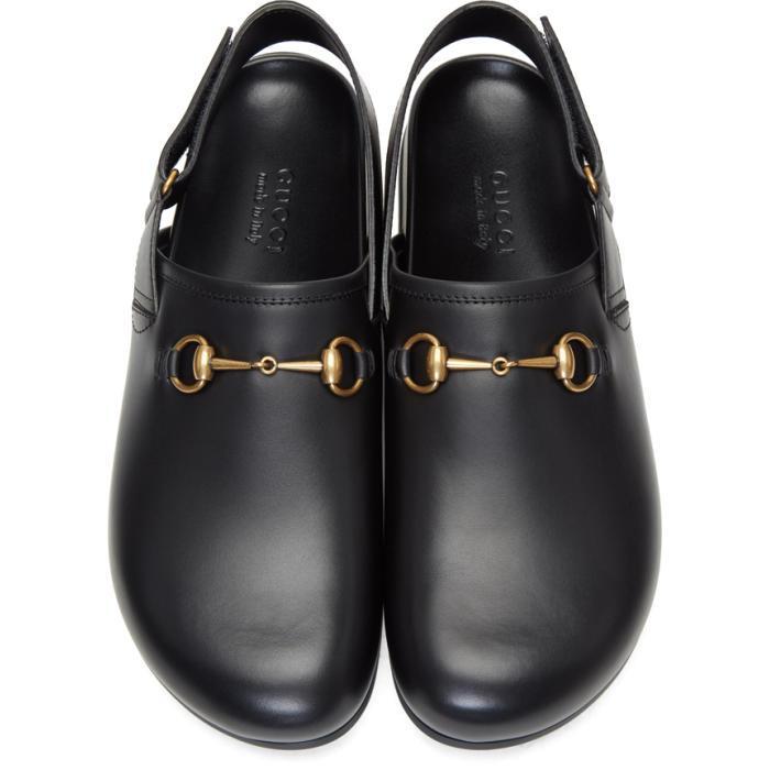 f2e8c5e51bdd Lyst - Gucci Black Horsebit River Slippers in Black for Men