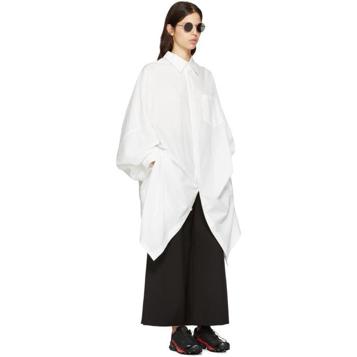 009717206db2 Y's Yohji Yamamoto White Dolman Shirt Dress in White - Lyst