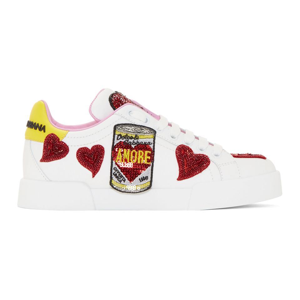 White Amore Energy Sneakers Dolce & Gabbana zgCUTNykC