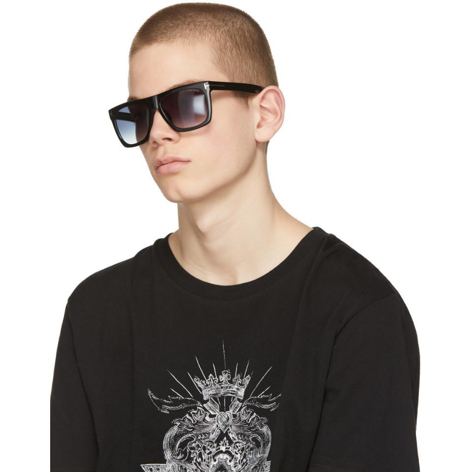 3298d3489cb Lyst - Tom Ford Black Morgan Sunglasses in Black for Men