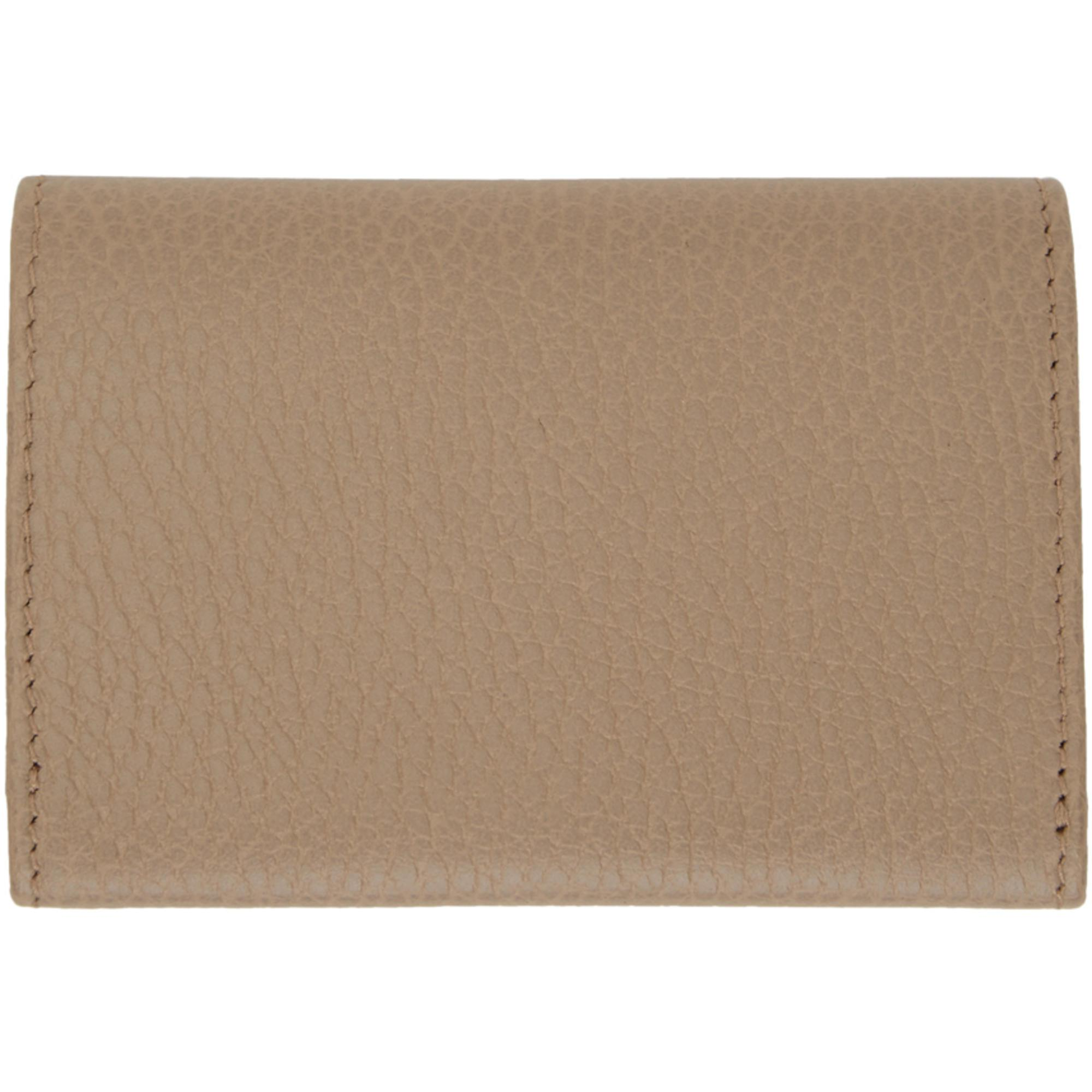 d68b93bfe49399 Gucci Beige Petite Gg Marmont Card Holder in Natural - Lyst