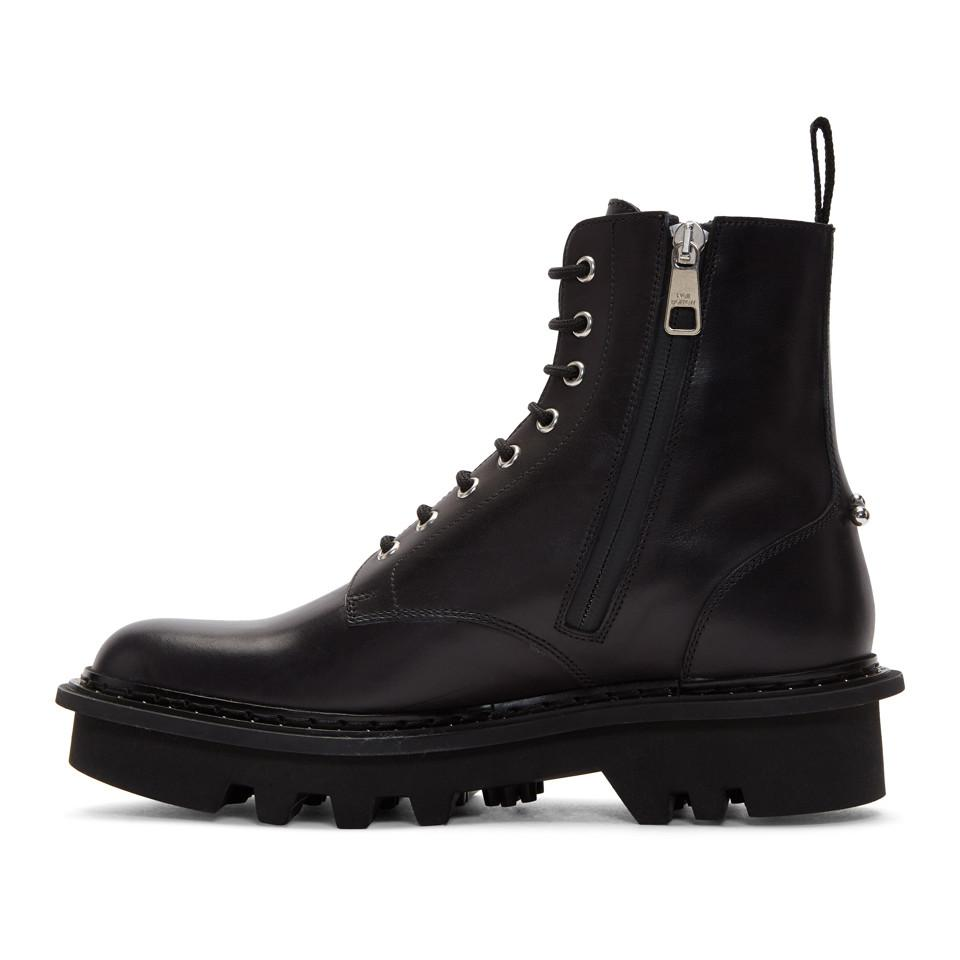 Outlet Locations Sale Online Online Store Black Thunderbolt Military Boots Neil Barrett Online Cheap Buy Newest Best Prices Cheap Price 6qdjuRU