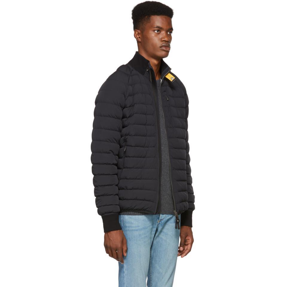 3dc969ff Parajumpers Black Down Varsity Mason Jacket in Black for Men - Lyst