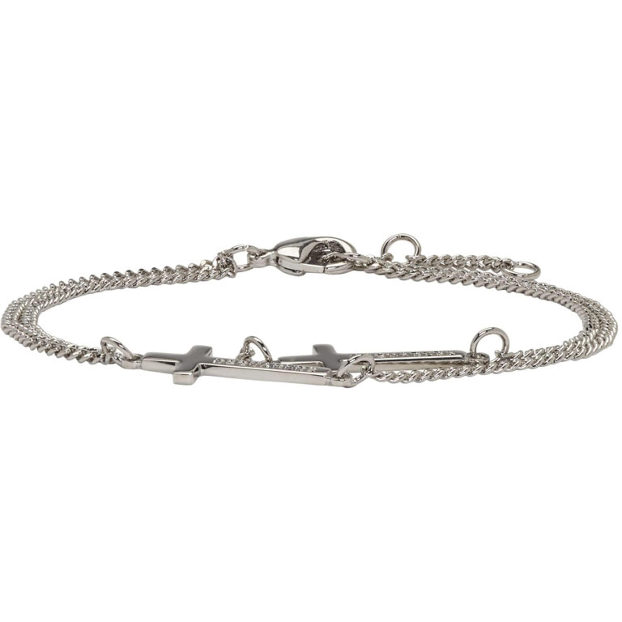 engraved cross bracelet - Metallic Dsquared2