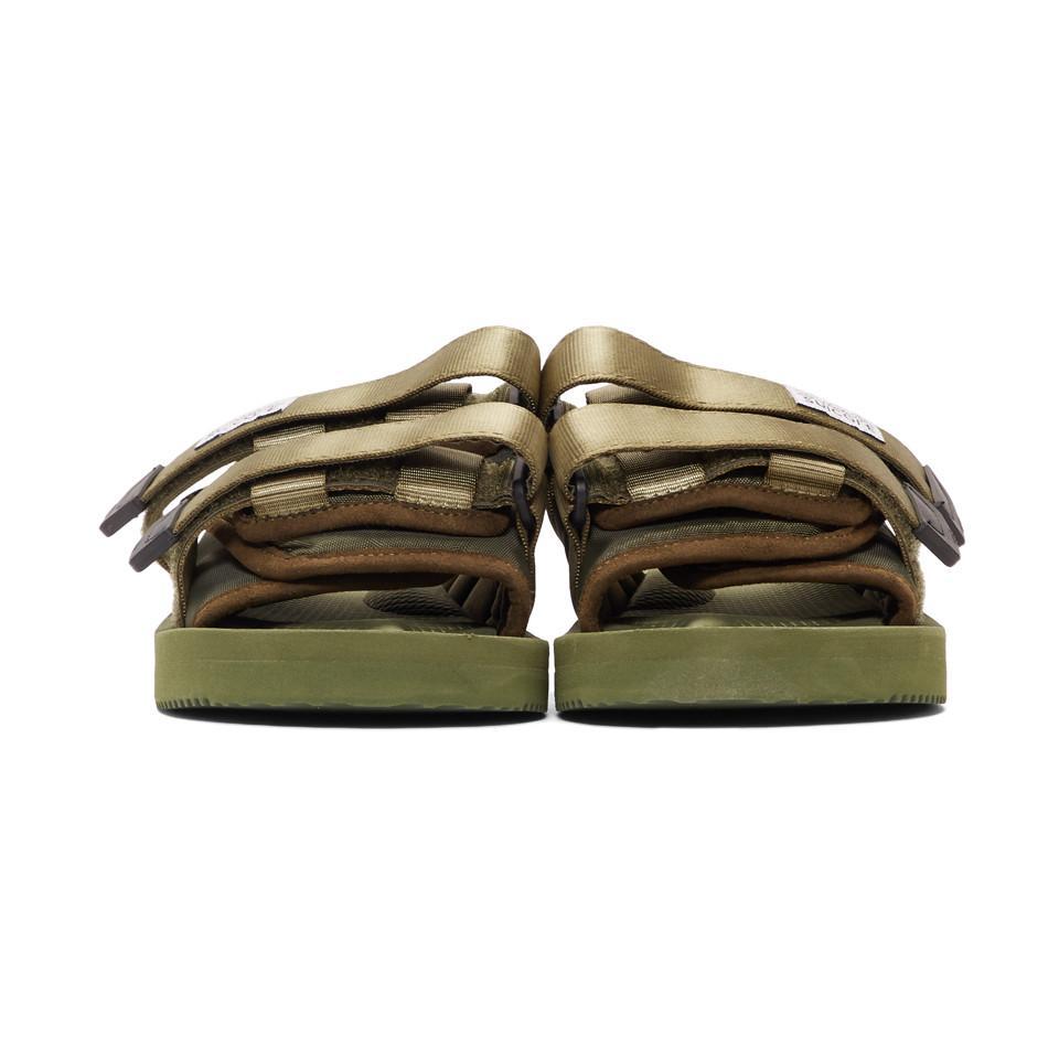 ceb6dc1ac17 Suicoke - Green Moto-cab Sandals for Men - Lyst. View fullscreen
