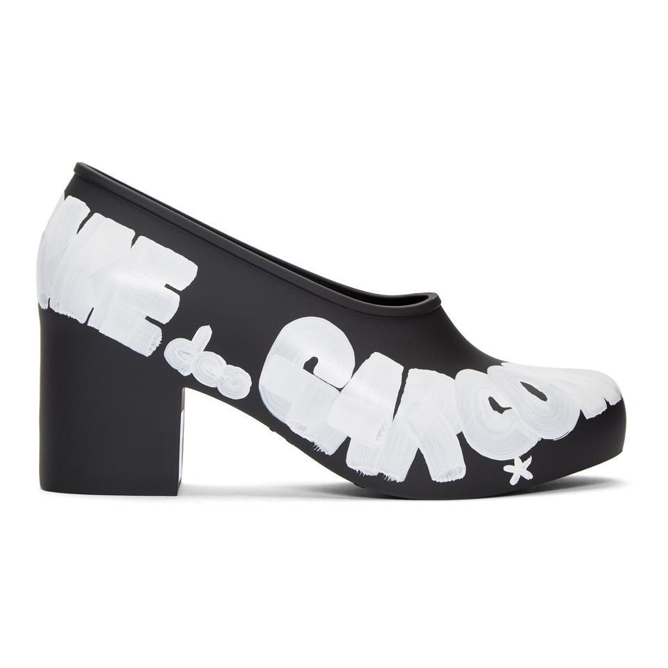 Calvin Klein 205W39NYC Black Melissa Edition Painted Logo Heels Cl9L8srhyy