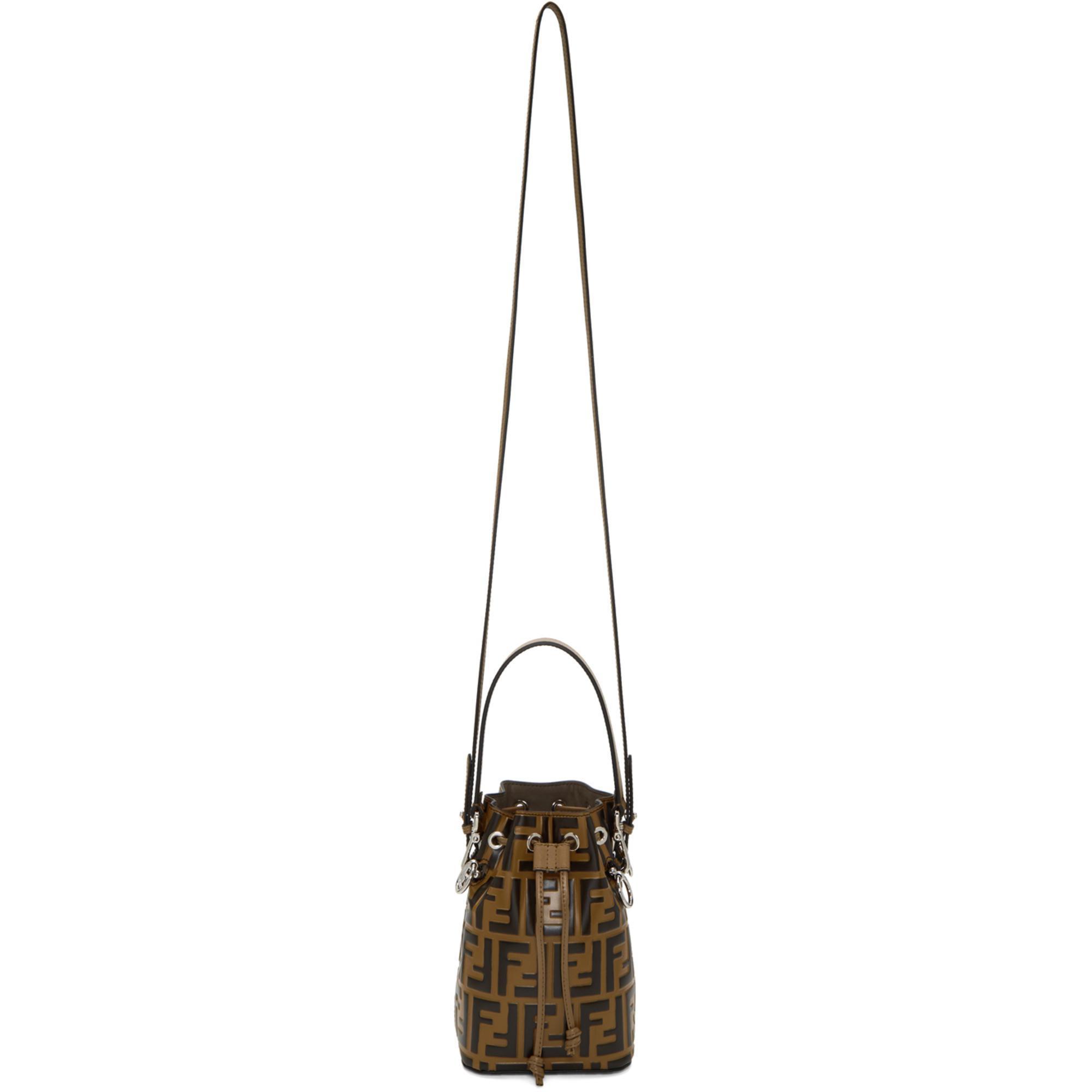 9e2bf5542a03 Fendi Brown And Black Mini Mon Tresor Forever Bag in Brown - Lyst