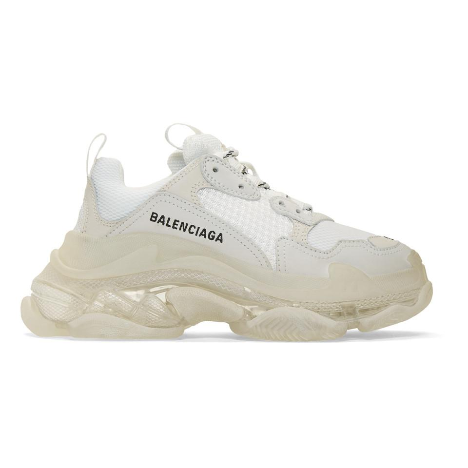Sole Triple White Save Clear In S Muspzv 10lyst Sneakers Balenciaga 4jAR35L