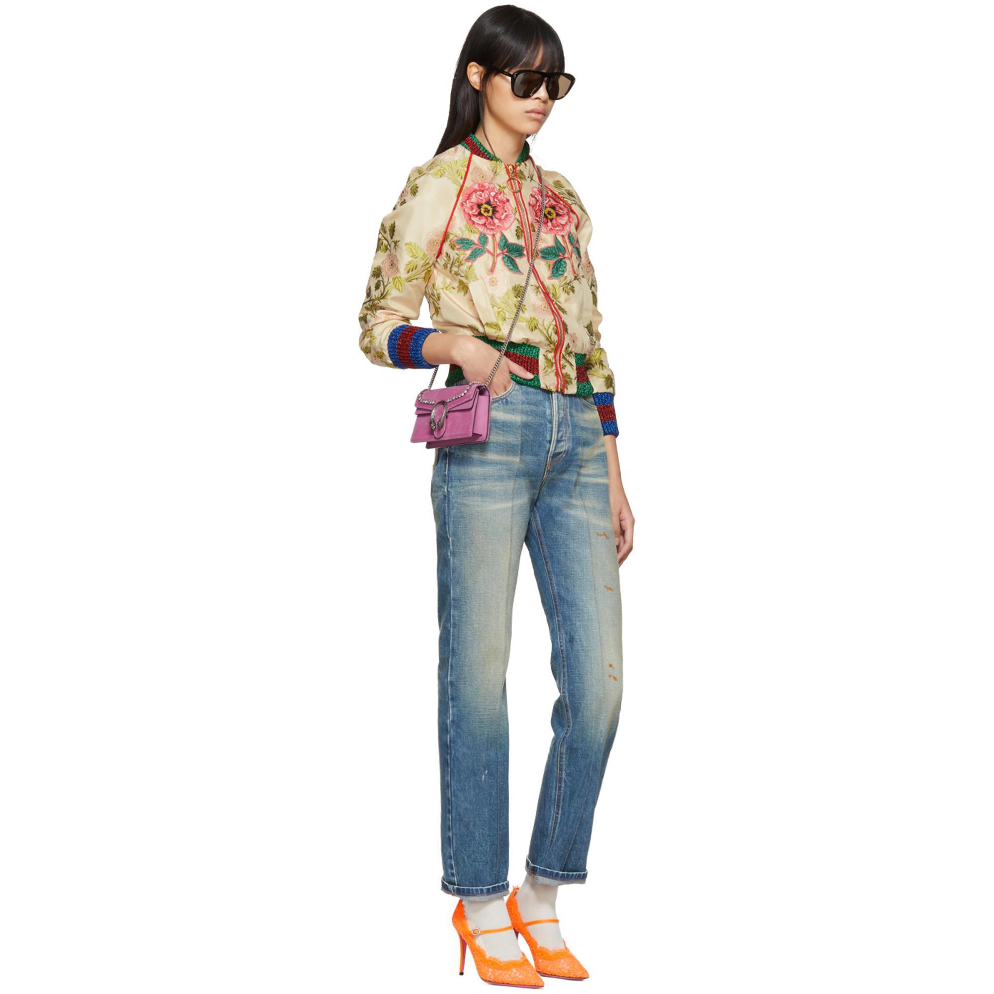 8605fc5eacd9 Gucci Pink Velvet Super Mini Dionysus Bag in Pink - Lyst
