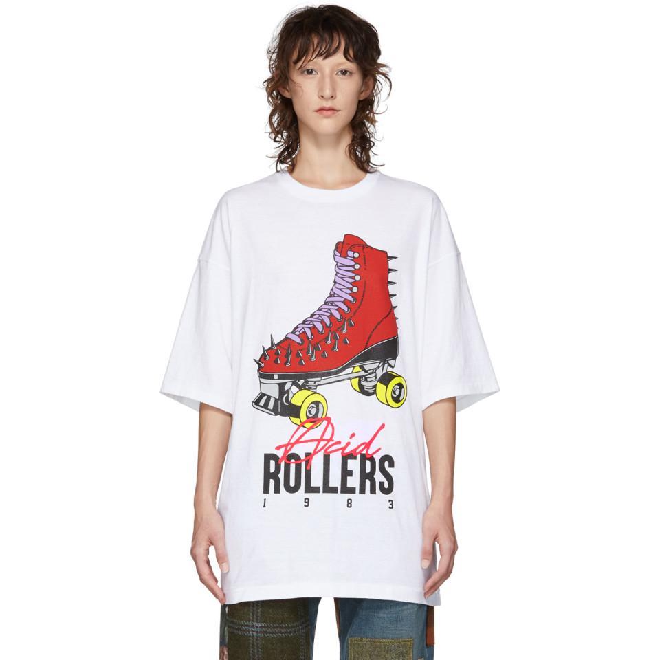 Undercover Roller Skate Print T-shirt in White - Lyst b664134c2fd