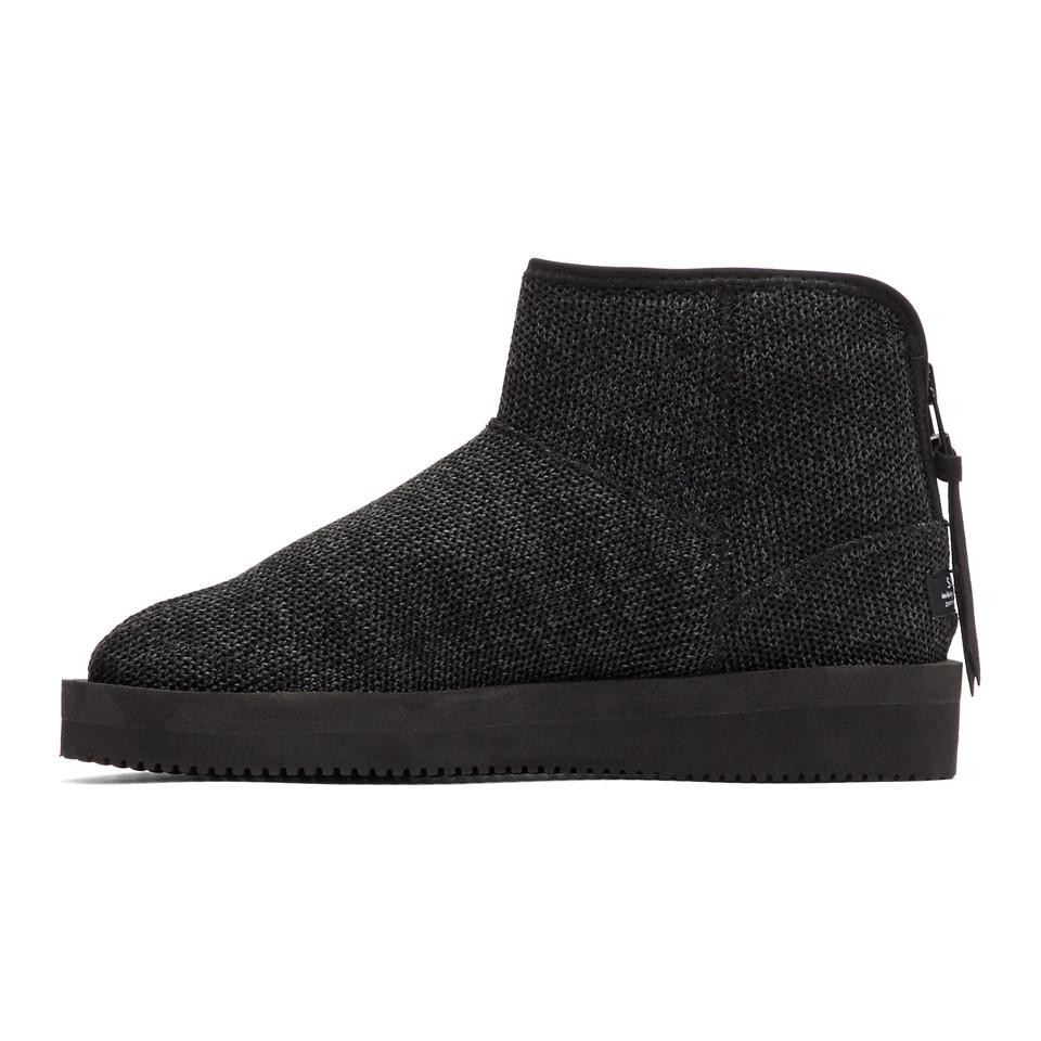 Shop Offer Cost Online Black Toby Knit Boots Suicoke For Sale Cheap Authentic kSHVw8L