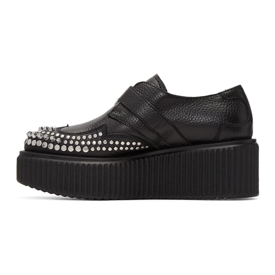 McQ Alexander McQueen Black Nevada Creeper Monkstraps