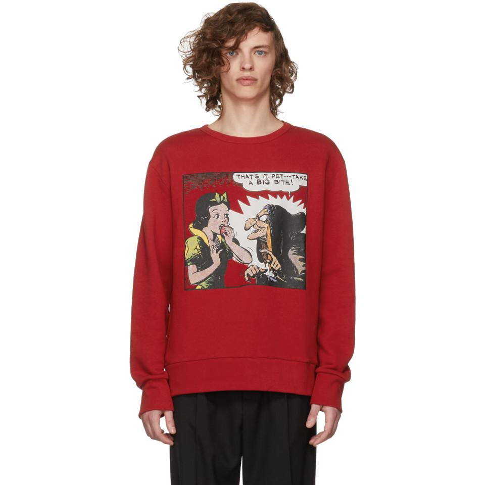 8c3db80d Gucci Red Snow White Sweatshirt in Red for Men - Lyst