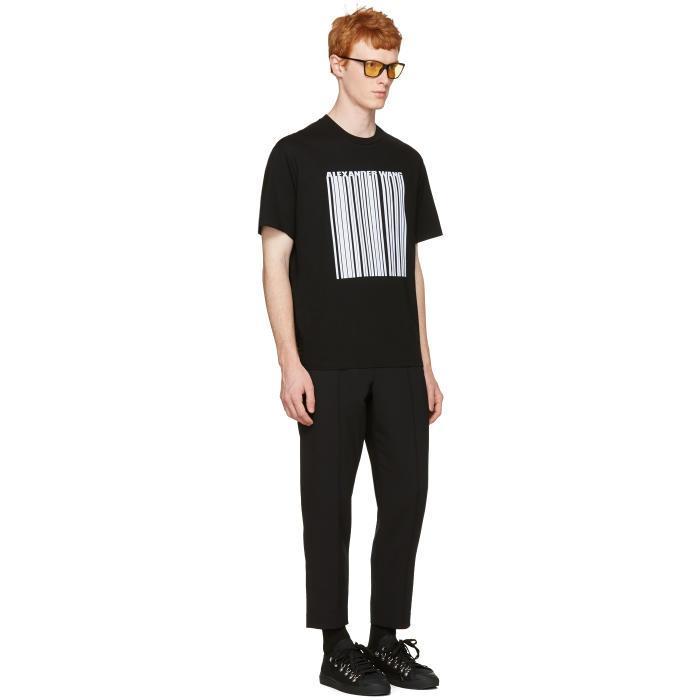 Lyst Alexander Wang Black Barcode Logo T Shirt In Black