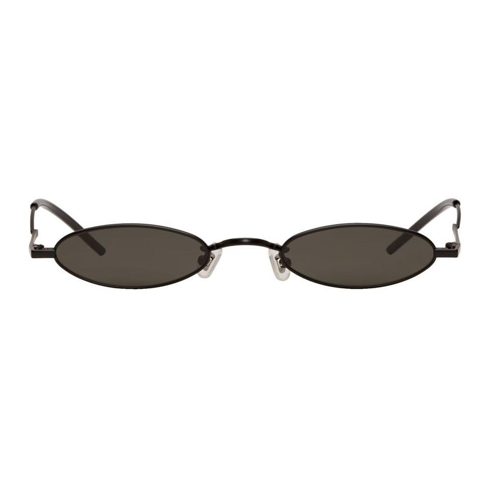 ed30c3b96f98 Gentle Monster Ssense Exclusive Black Vector Sunglasses in Black for ...
