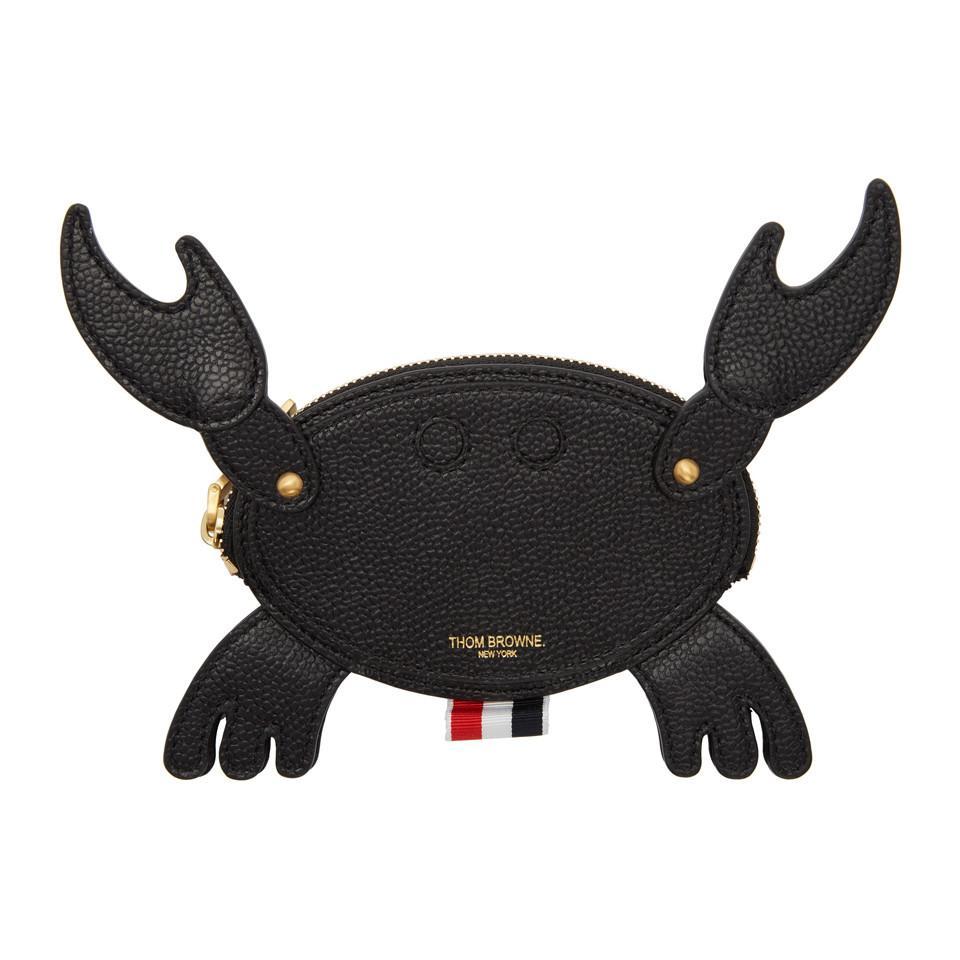 5ba0e9b6a4 Thom Browne Black Crab Pouch in Black - Lyst