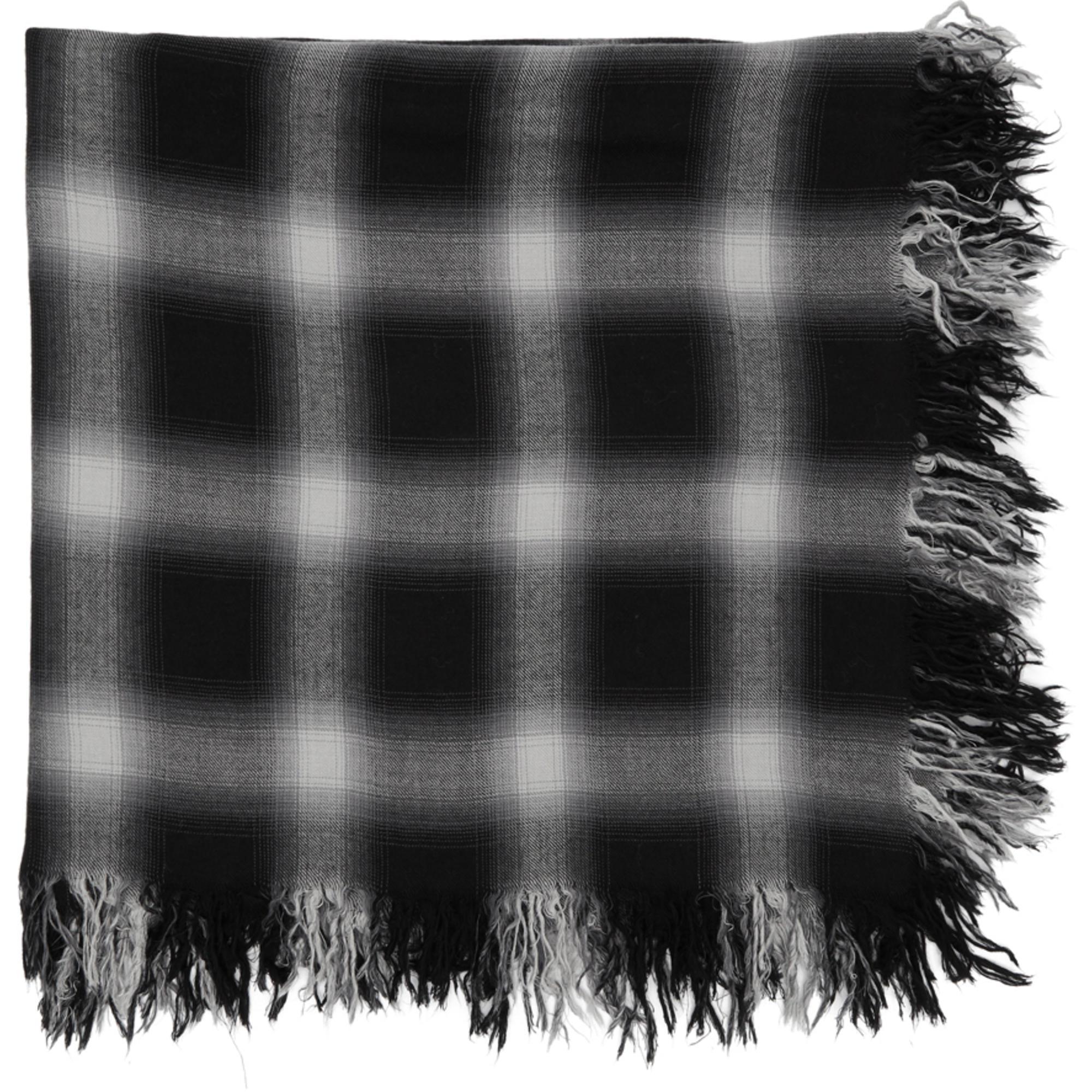 Lyst - Foulard à carreaux noir et blanc Attachment pour homme en ... db5ae7fa148