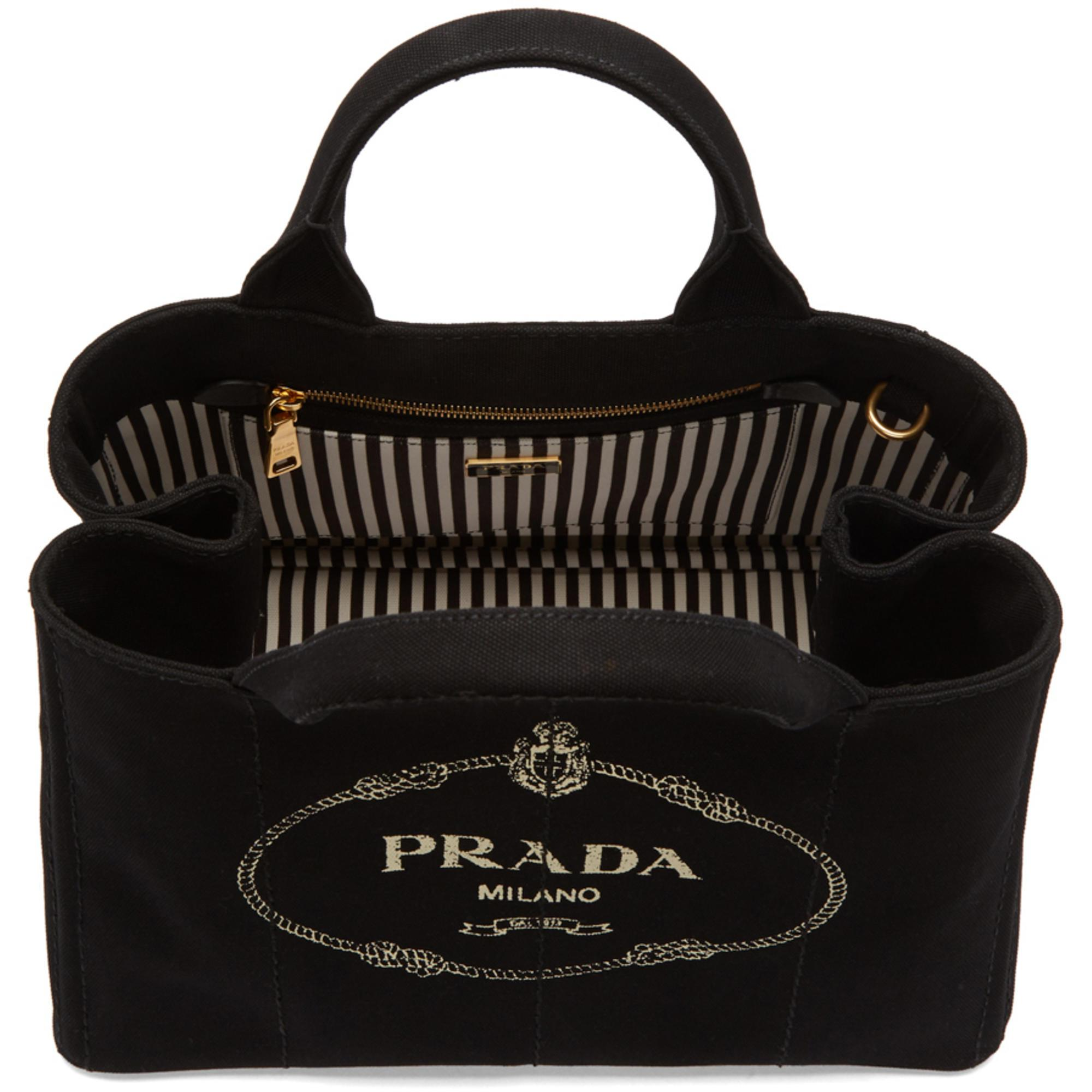 971ea1a03b54 ... authentic discount code for prada black large gardener tote in black  lyst 60cc3 ca56d 6680d 146da