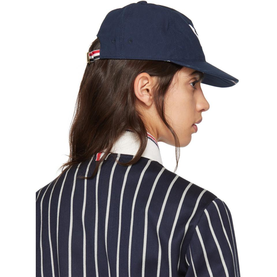 c4797c6b32a38 Thom Browne Navy Hector Icon Five-panel Baseball Cap in Blue - Lyst