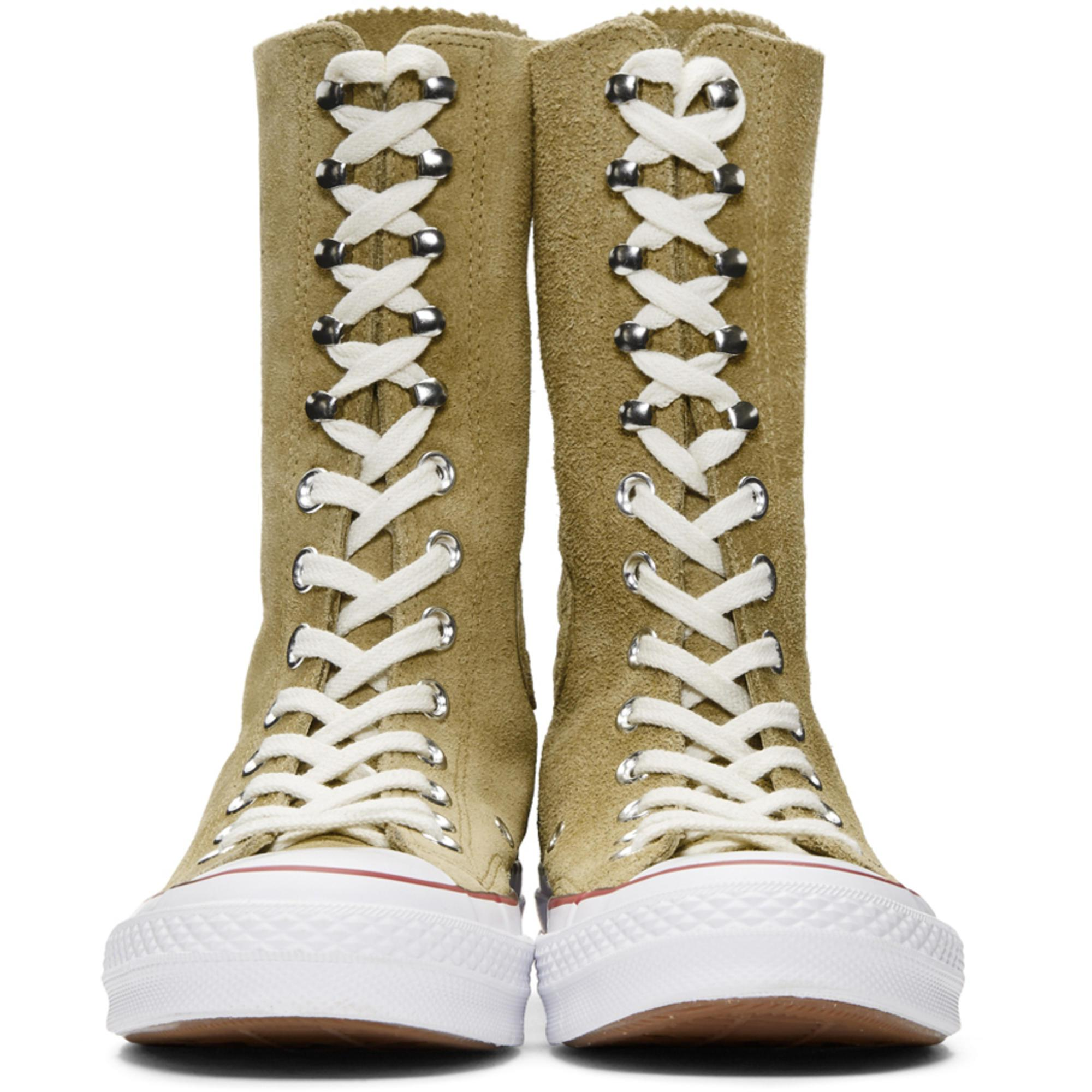 19839963a41 JW Anderson Tan Converse Edition Suede Chuck Taylor High-top ...