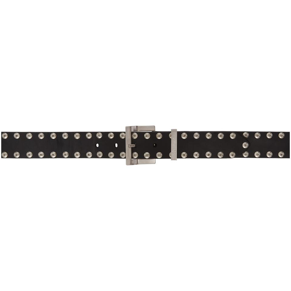 Lyst - Ceinture cloutee noire Maison Margiela en coloris Noir 4b59b4c3c90