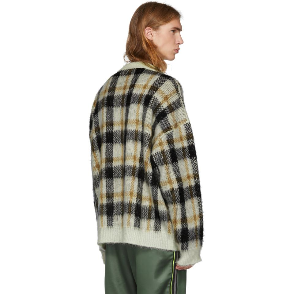 Micha Brown White Cmmn Sweater Men Swdn Check Mohair View Fullscreen For And Lyst xq4ZOZwS