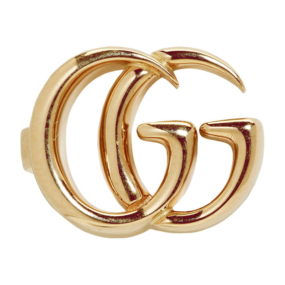60a78045297 Gucci Gold Single GG Clip-on Earring in Metallic - Lyst