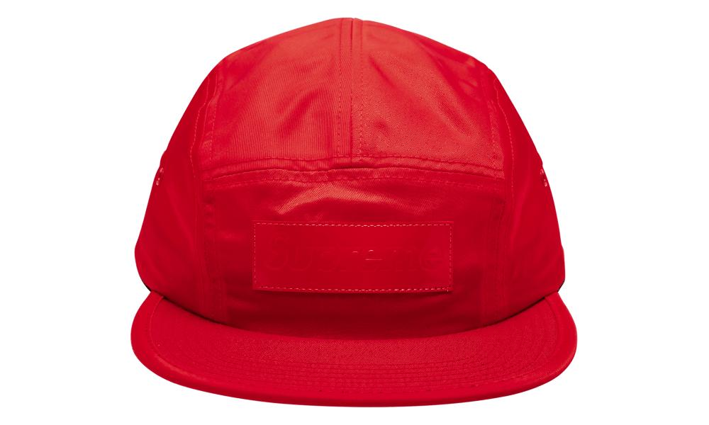 08a77351 Lyst - Supreme Patent Leather Patch Camp Cap in Red for Men