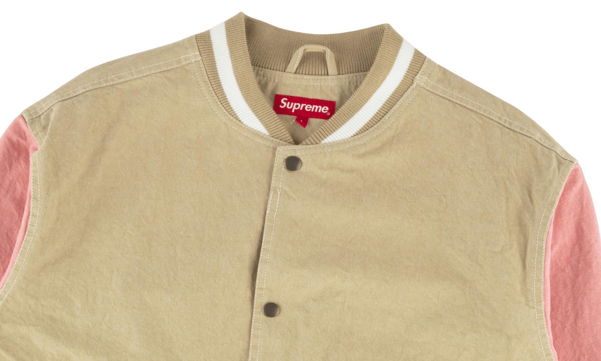 Lyst Supreme Denim Varsity Jacket For Men