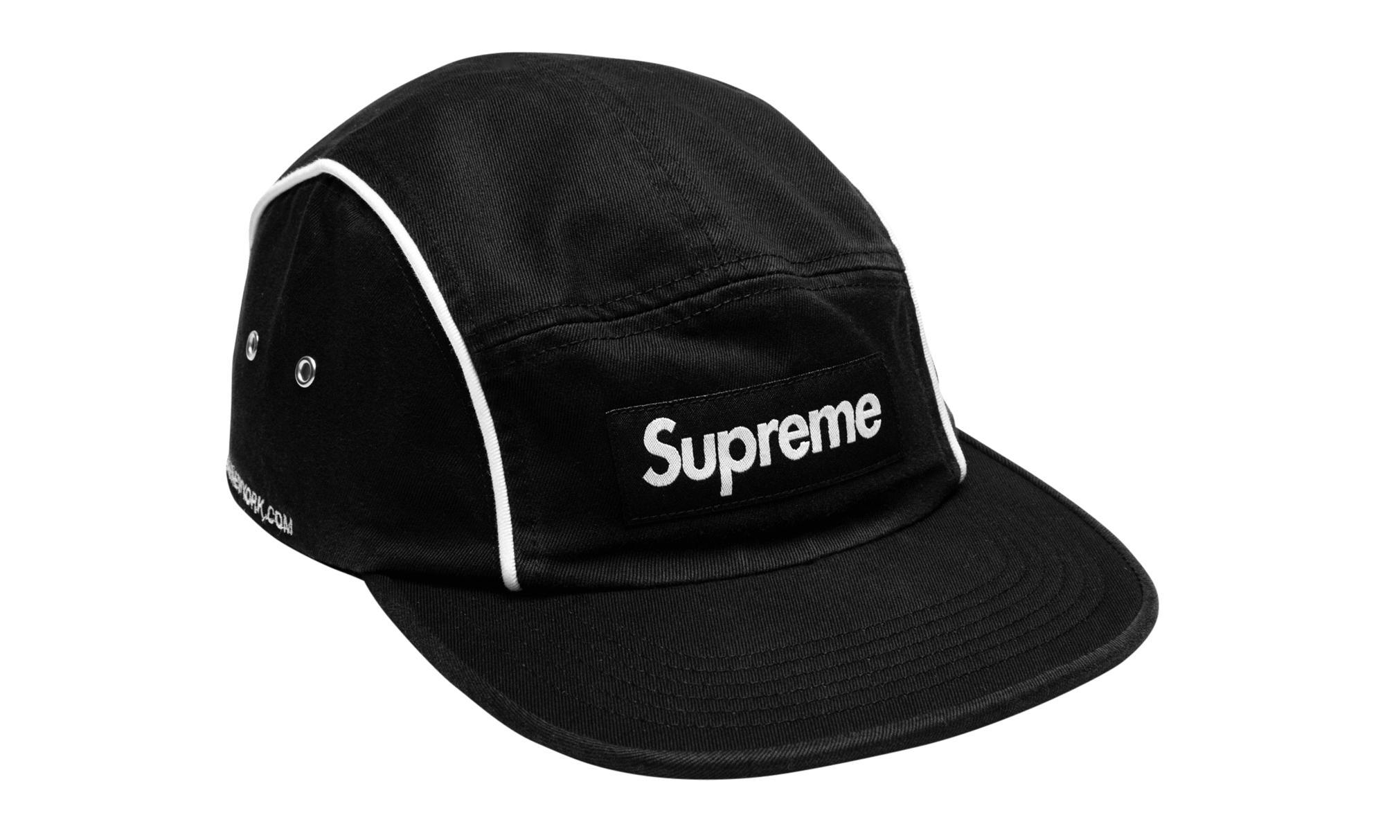 Lyst - Supreme Piping Camp Cap in Black for Men f0f10410a16