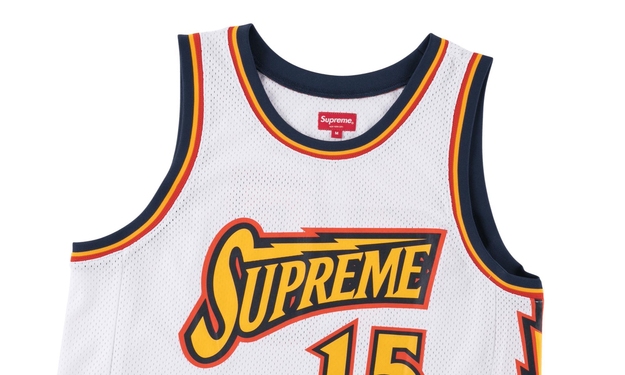 b801c20bcb29 Supreme - White Bolt Basketball Jersey for Men - Lyst. View fullscreen