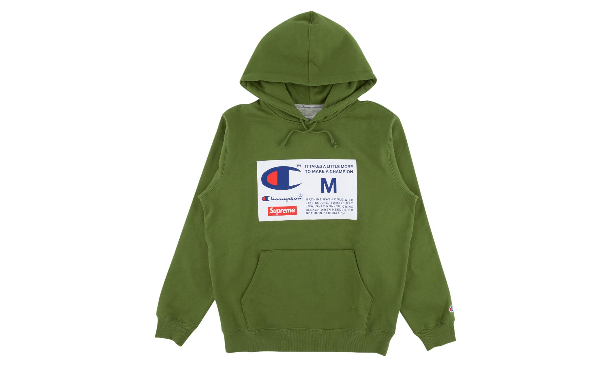 12adcb06 Supreme Champion Label Hooded Sweatshi in Green for Men - Save 23 ...
