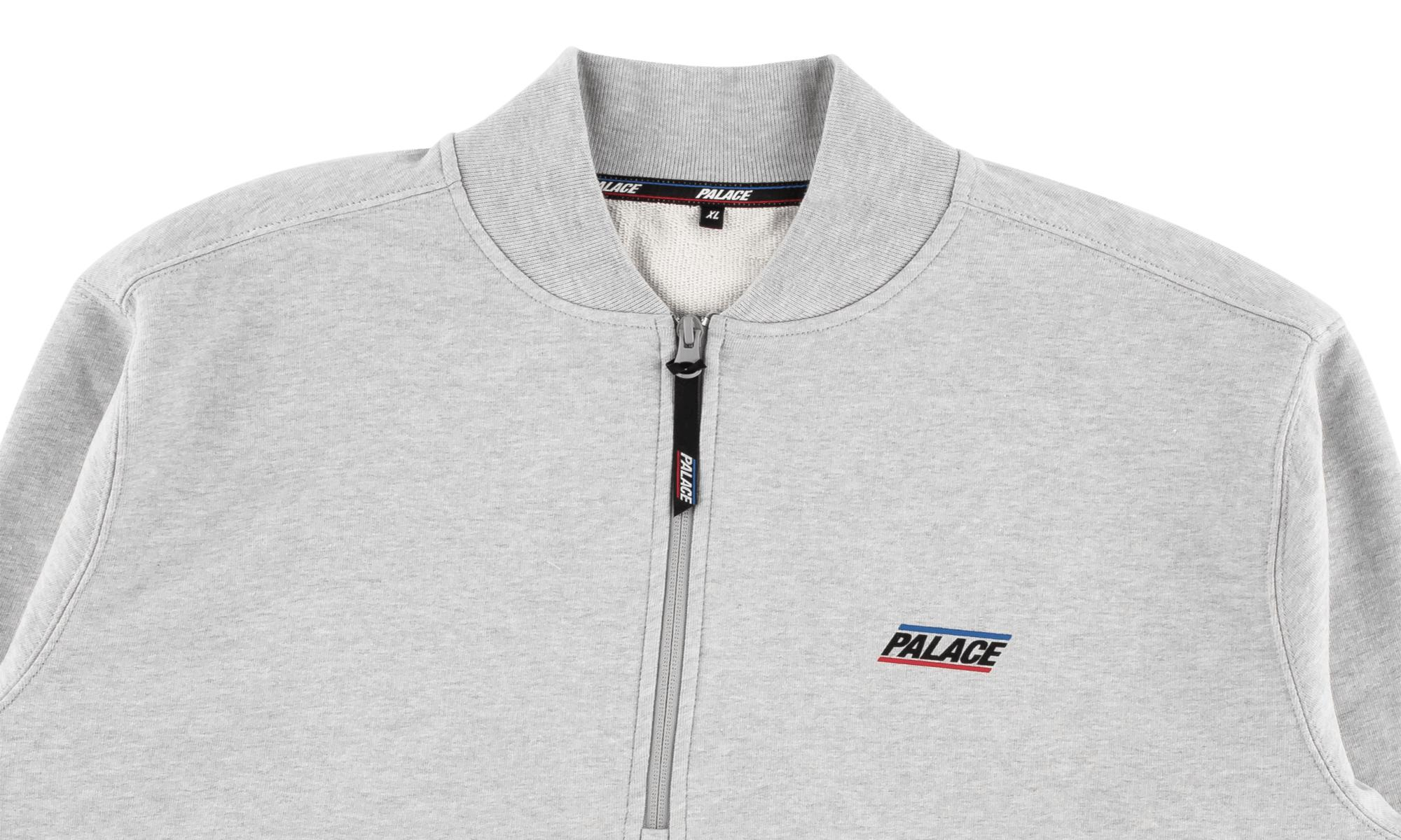 76124f74a05c Palace Basically A Half Zip Bomber in Gray for Men - Save 9% - Lyst