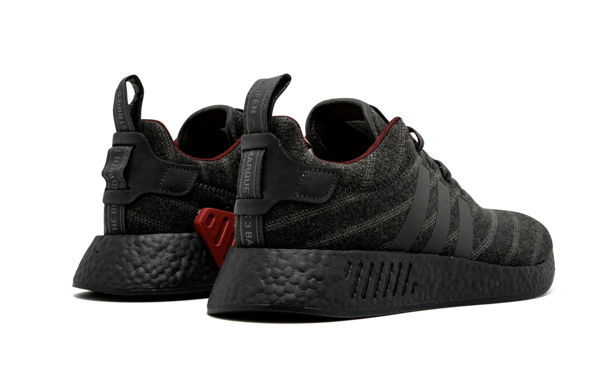 354a17f14 Adidas - Black Nmd R2 Core Grey core Red  henry Poole  for Men. View  fullscreen